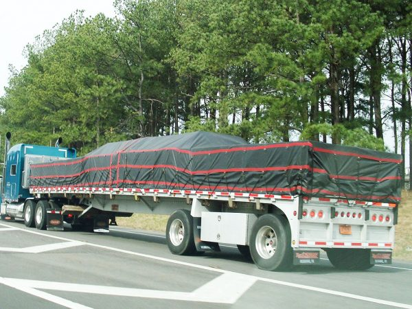 Lumber Tarp with Flap for Flatbed Truck and Trailer