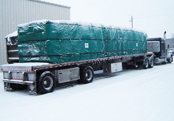 Lumber Tarp with Flap for Flatbed Truck and Trailer - 8' Drop